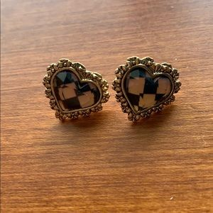Betsey Johnson pink and black stud earrings